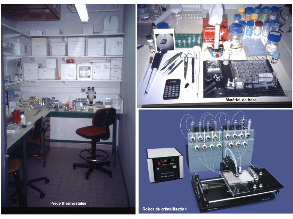 Robot de cristallisation Pièce thermostatée Matériel de base
