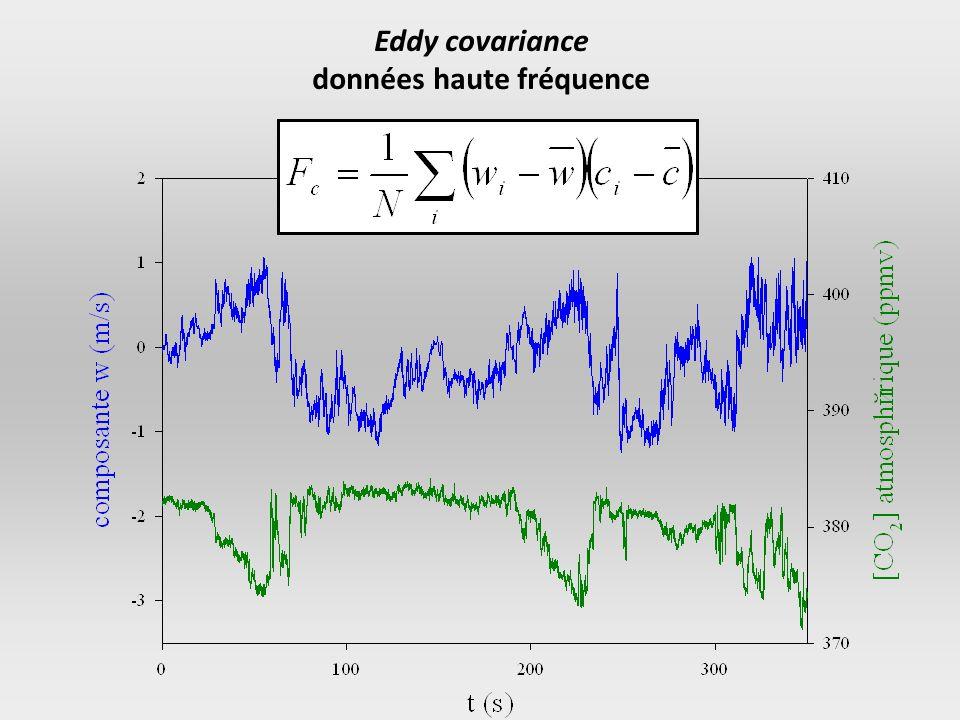 1er juin 2005 – 10:30 (TU) Forêt de Barbeau Eddy covariance données haute fréquence