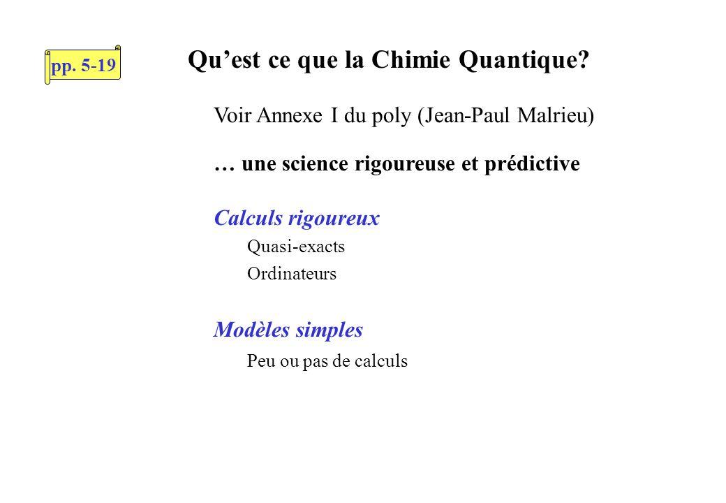 Quest ce que la Chimie Quantique.