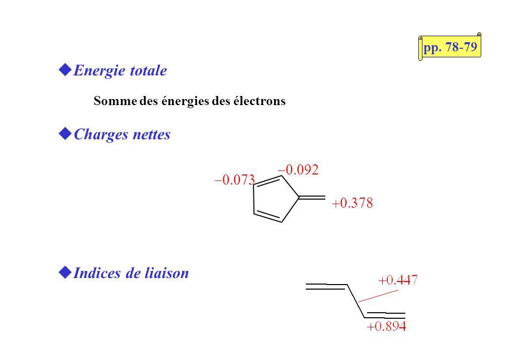 Règle 4n+2/4n de Hückel Caractère diradicalaire p. 83