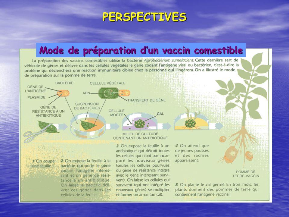 PERSPECTIVES Mode de préparation dun vaccin comestible