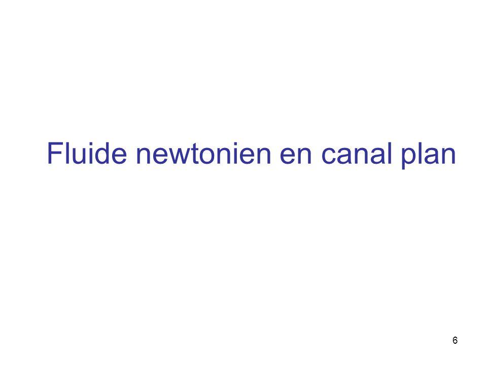 6 Fluide newtonien en canal plan