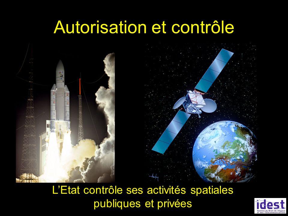 Autorisation et contrôle LEtat contrôle ses activités spatiales publiques et privées