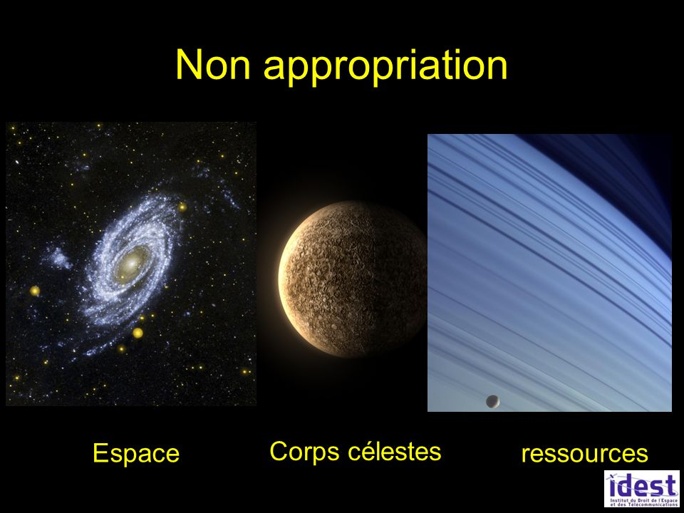 Non appropriation Corps célestes Espaceressources