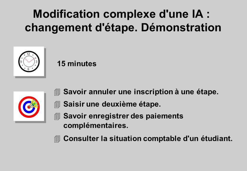 Modification complexe d une IA : changement d étape.