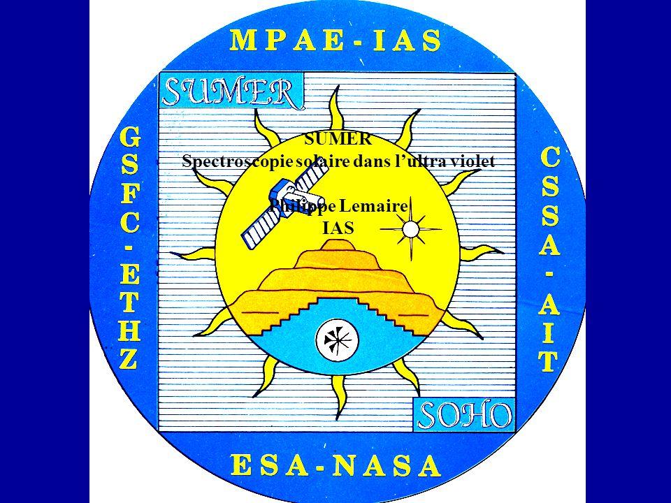 SUMER Spectroscopie solaire dans lultra violet Philippe Lemaire IAS