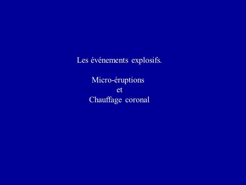 Les événements explosifs. Micro-éruptions et Chauffage coronal
