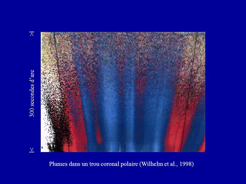 Plumes dans un trou coronal polaire (Wilhelm et al., 1998) l