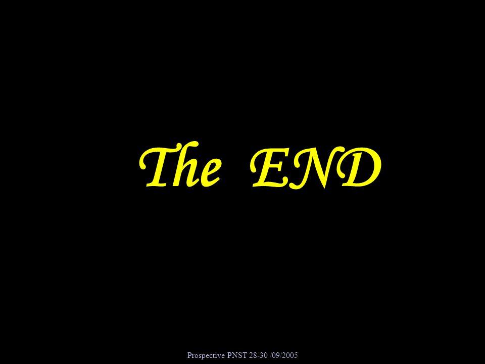 Prospective PNST 28-30 /09/2005 The END