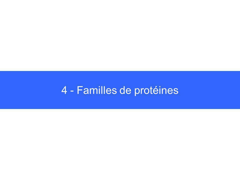 4 - Familles de protéines