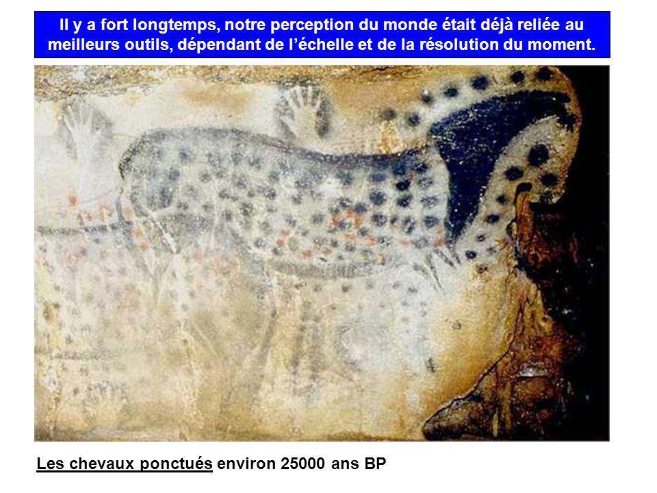 Les chevaux ponctués environ 25000 ans BP Il y a fort longtemps, notre perception du monde était déjà reliée au meilleurs outils, dépendant de léchell