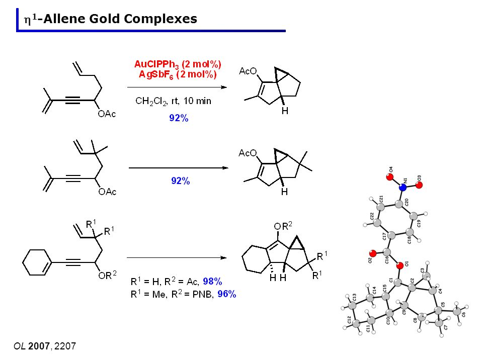 OL 2007, 2207 1 -Allene Gold Complexes