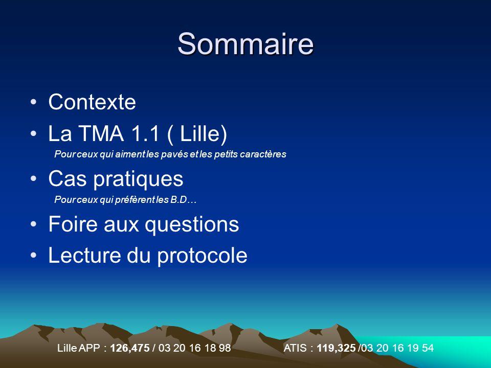 Lille APP : 126,475 / 03 20 16 18 98 ATIS : 119,325 /03 20 16 19 54 Sommaire Contexte La TMA 1.1 ( Lille) Pour ceux qui aiment les pavés et les petits