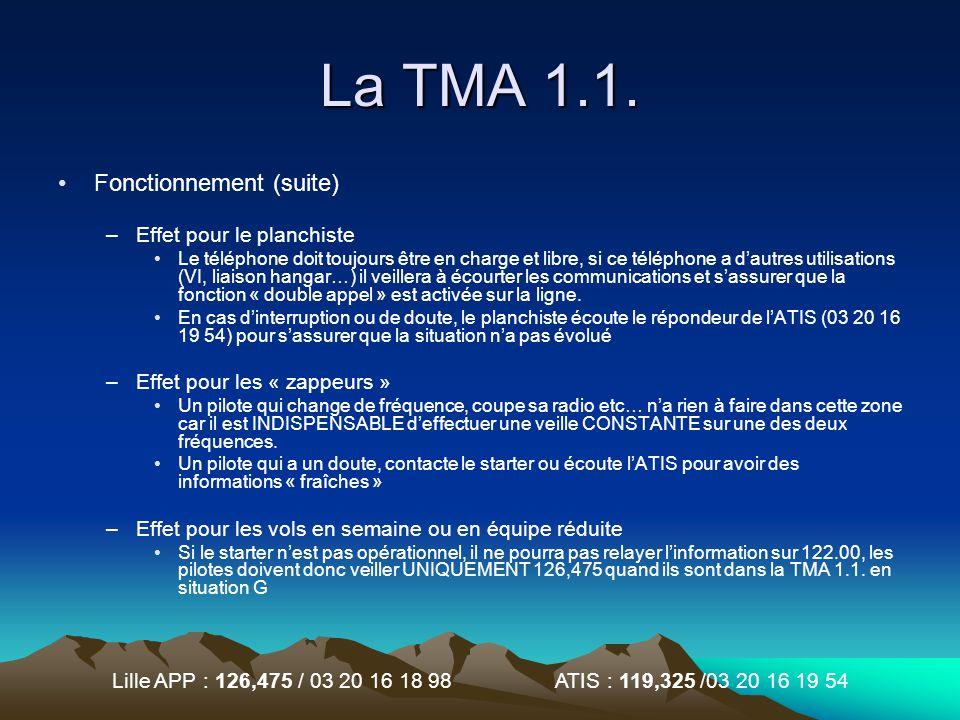 Lille APP : 126,475 / 03 20 16 18 98 ATIS : 119,325 /03 20 16 19 54 Foire aux questions Je suis en TMA 1.1.