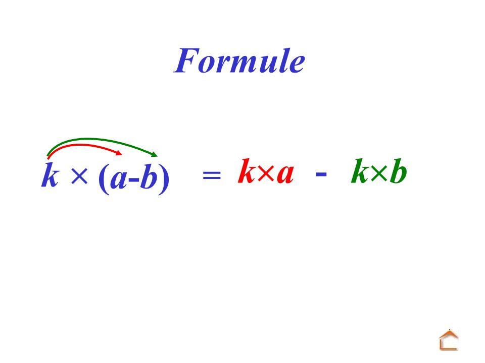 = k k a - k b Formule (a-b)