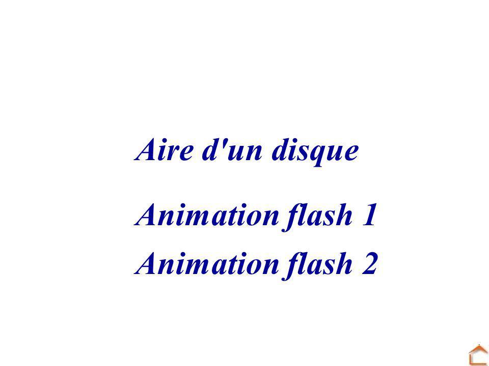 Aire d'un disque Animation flash 1 Animation flash 2