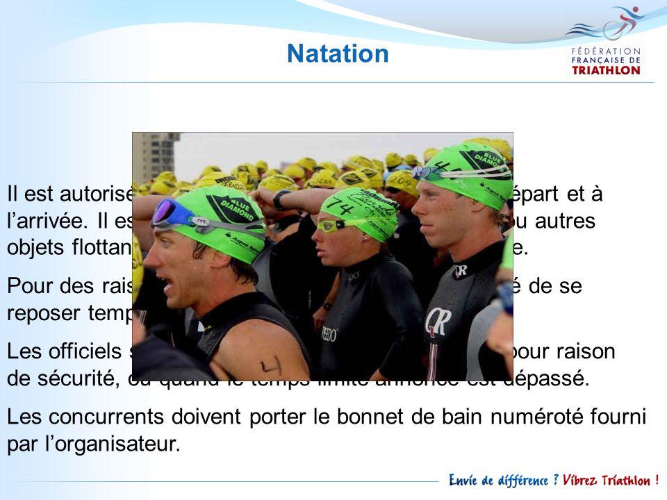 La combinaison isothermique de natation ne peut comprendre plus de trois parties ; cagoule, haut avec ou sans manches, pantalon.