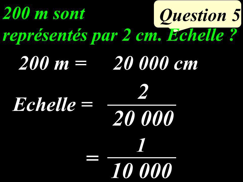 Calculer l aire du triangle: 4 cm 3cm 5 cm A B C Question 4 4 3 2 = 6 cm²
