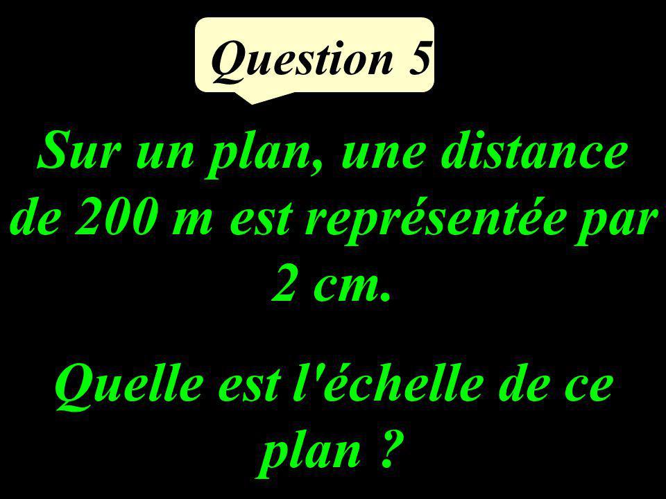 Sur un plan, une distance de 200 m est représentée par 2 cm.