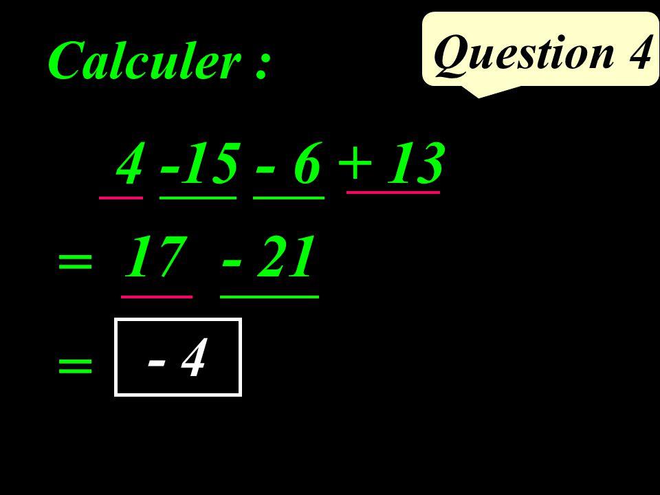ABCD est un parallélogramme. Si un quadrilatère est un parallélogramme, alors ses côtés opposés sont de même longueur. AB = CD et AD = BC. Question 3