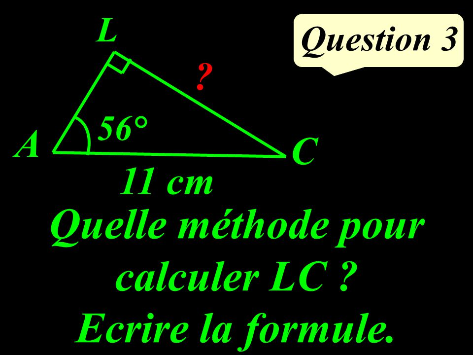 Calculer laire du disque : Question 2 4 cm
