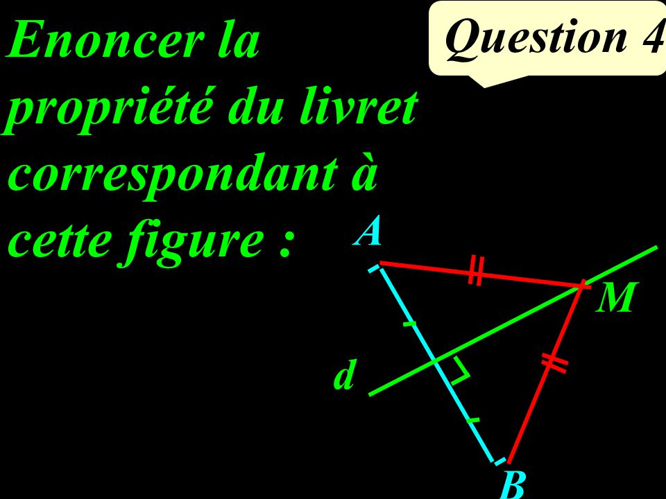 Question 4 A B d M Enoncer la propriété du livret correspondant à cette figure :