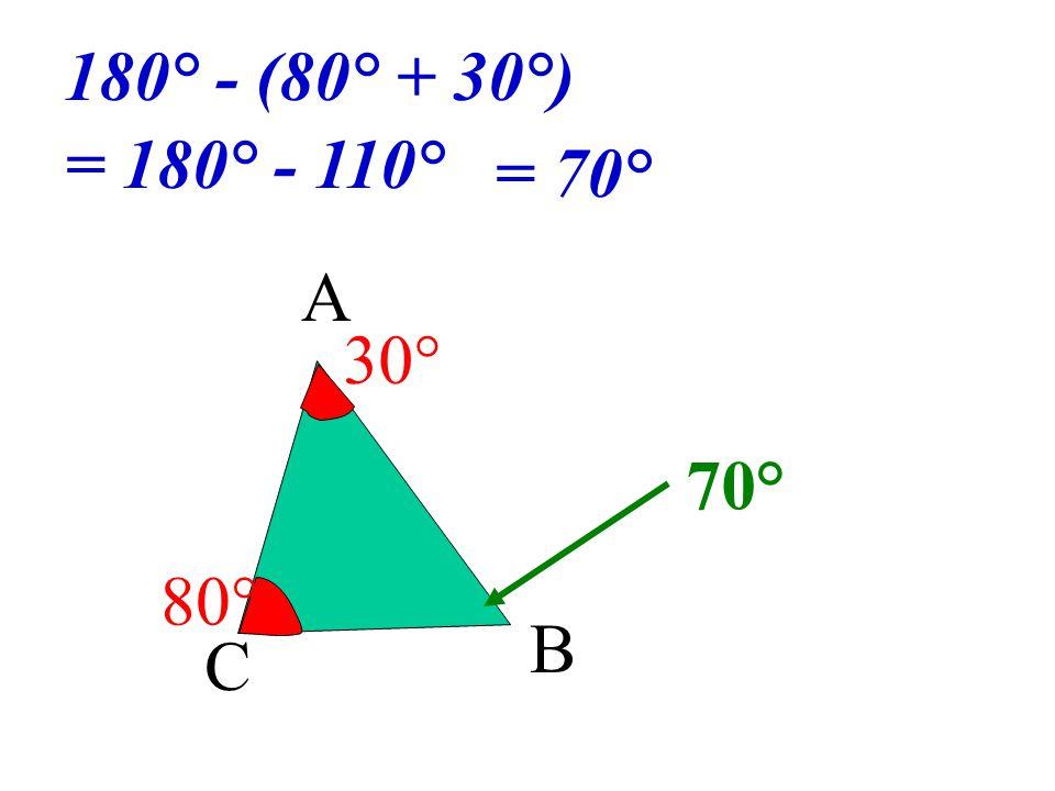 A C B ? 30° 80°