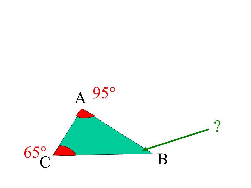 A C B 70° 30° 80° 180° - (80° + 30°) = 180° - 110° = 70°