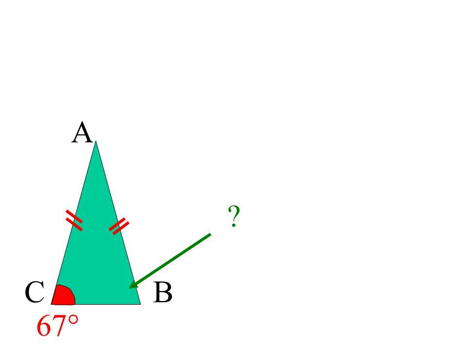 17 Un triangle isocèle est un triangle qui a 2 côtés de même longueur Si un triangle est isocèle alors ses « angles à la base » sont égaux. BC A