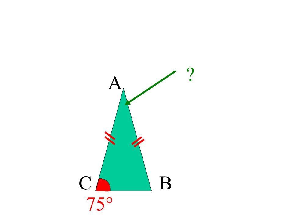 A CB ABC est isocèle en A donc B = C= 67 °