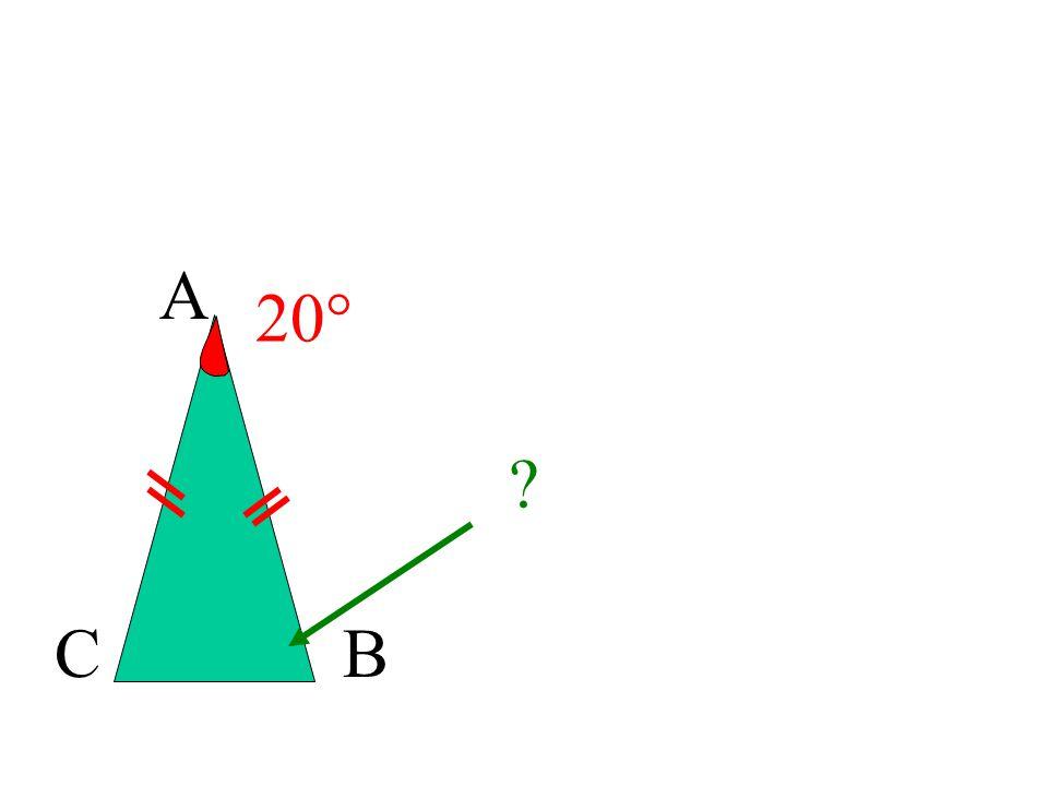 A CB 30° 75° ABC est isocèle en A donc B = C A= 180° - 2 x 75°= 180° - 150° = 30°A