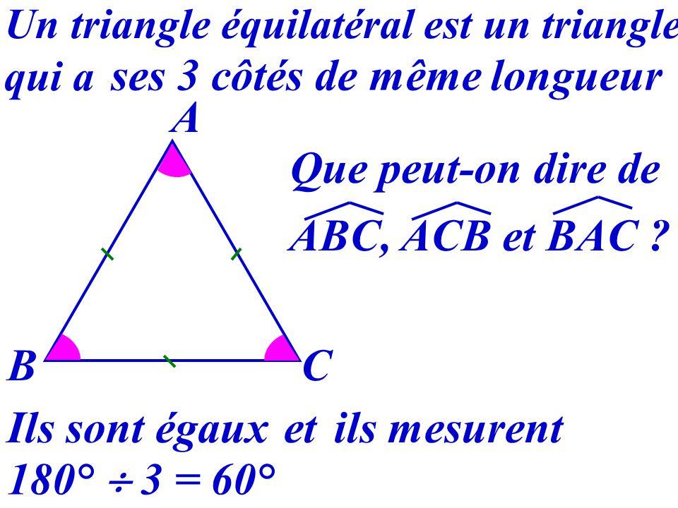 24 Triangle équilatéral