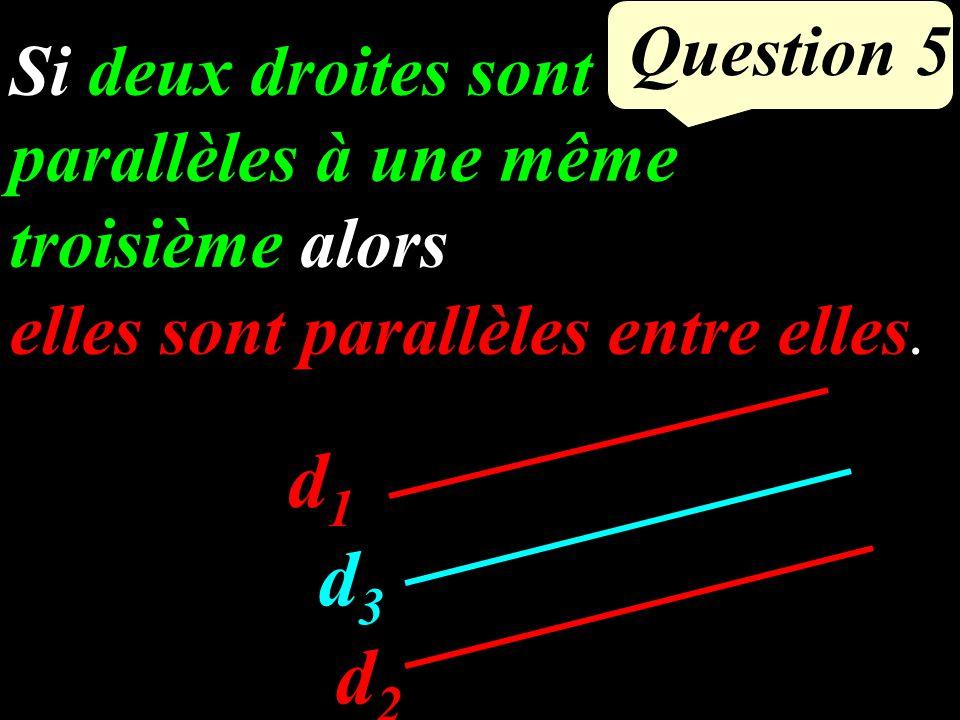 Question 4 D G H E F Dans les triangles DGH et DEF - (GH) et (FE) sont parallèles.