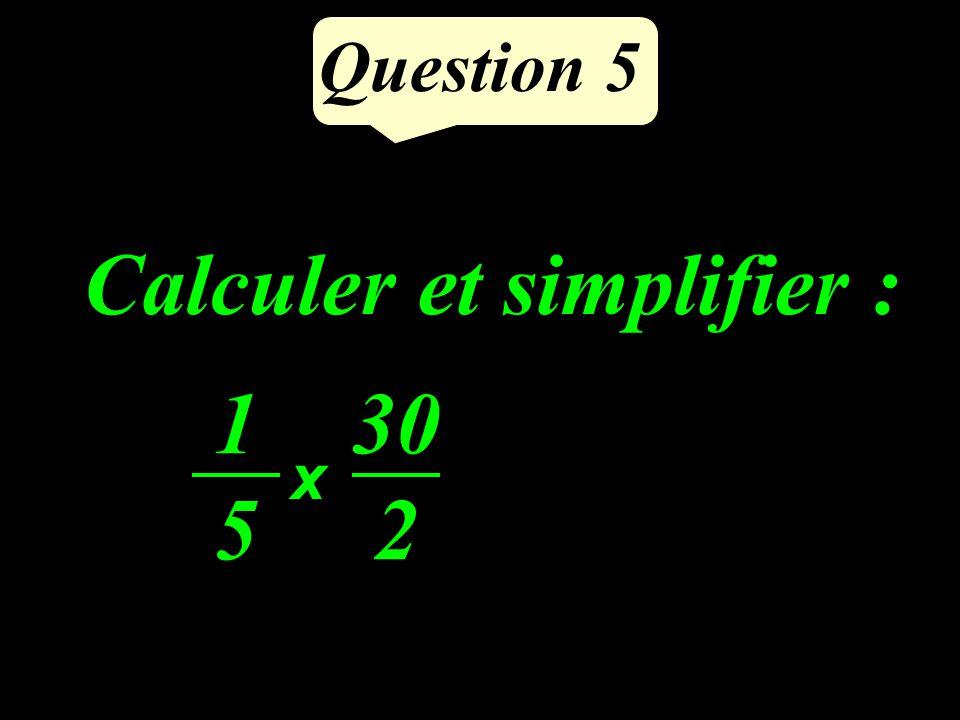 Question 4 Calculer 35 1,1 (1 chiffre après la virgule)