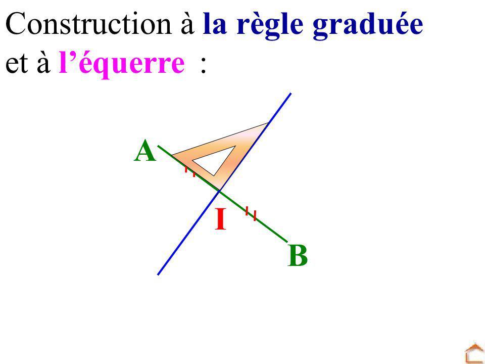 Construction à la règle graduée et à léquerre: I B A