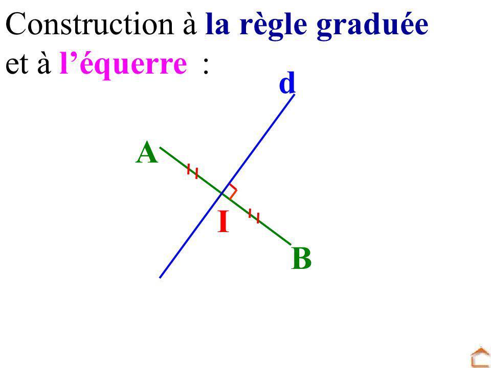 Construction à la règle graduée et à léquerre: I B A d
