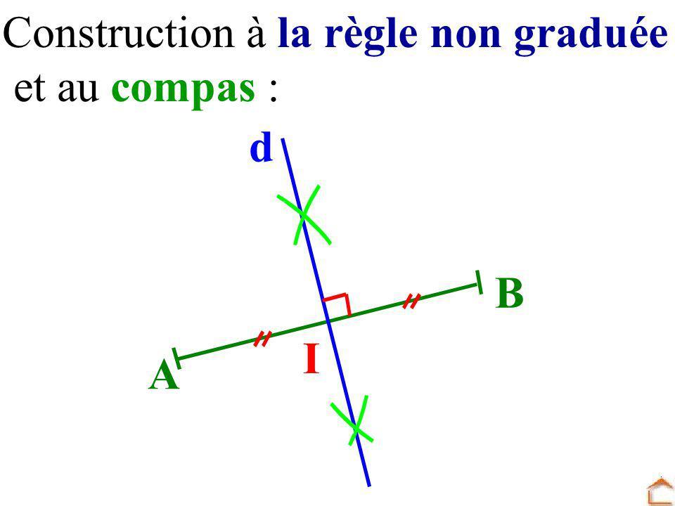 Construction à la règle non graduée et au compas : A B d I