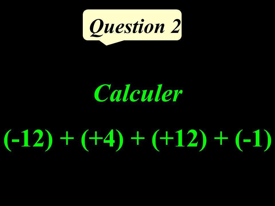 Question 1 Calculer la différence de 43 et du tiers de 24.