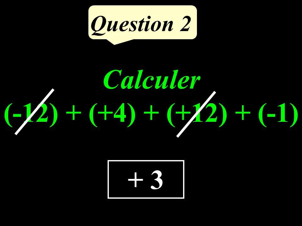 Question 1 35 Calculer la différence de 43 et du tiers de 24.