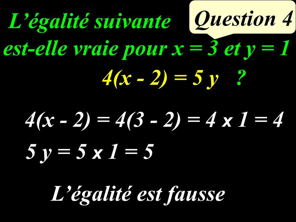 Question 3 Exprimer en fonction du nombre entier x : le nombre entier qui le précède x - 1