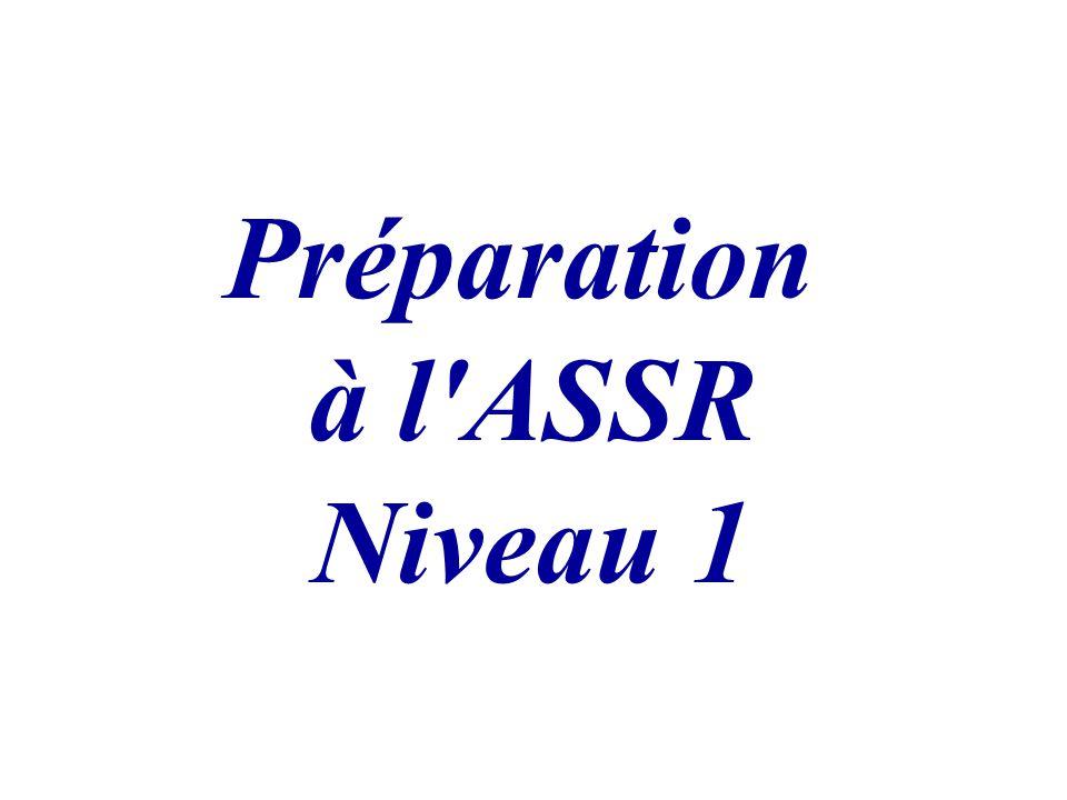 Préparation à l'ASSR Niveau 1
