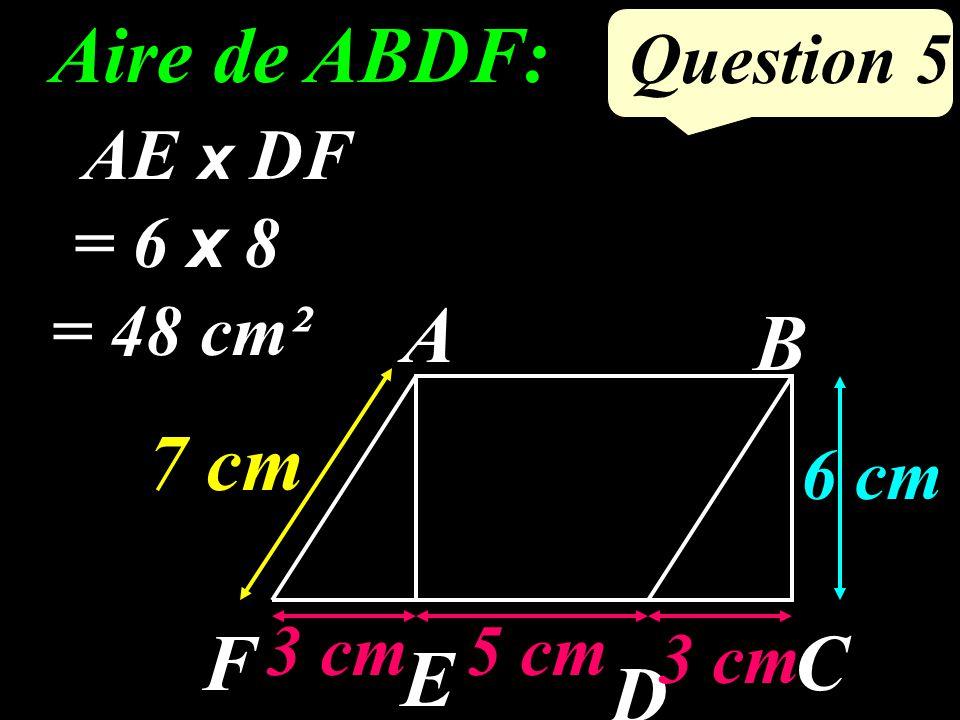 Question 4 Jen déduis que : ADC = 65° Compléter : Je sais que : ABCD est un parallélogramme, et ABC = 65° Daprès la propriété : Si un quadrilatère est