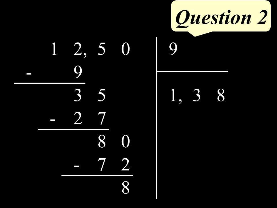 Question 2 052,19 831, 9 - 53 72- 08 27- 8