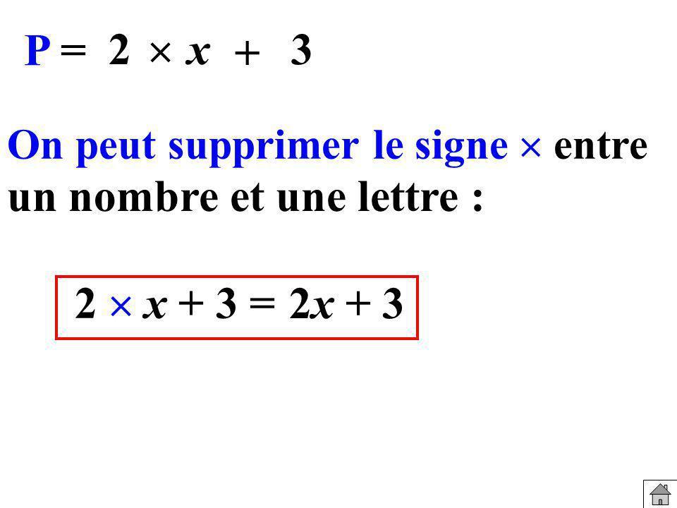 Exprimer en fonction de x et de y l aire du rectangle ABCD A = (y+1)(x+5) x y B A C D 5 1