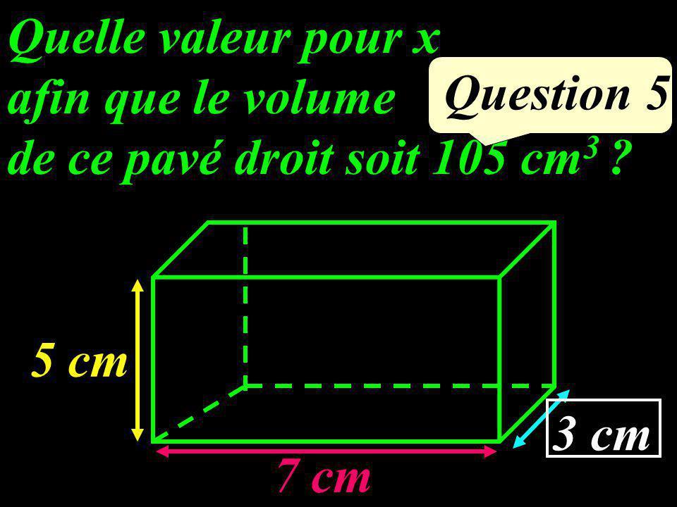 Question 4 Calculer le volume de ce cylindre. 5 cm 2 cm 20 cm 3