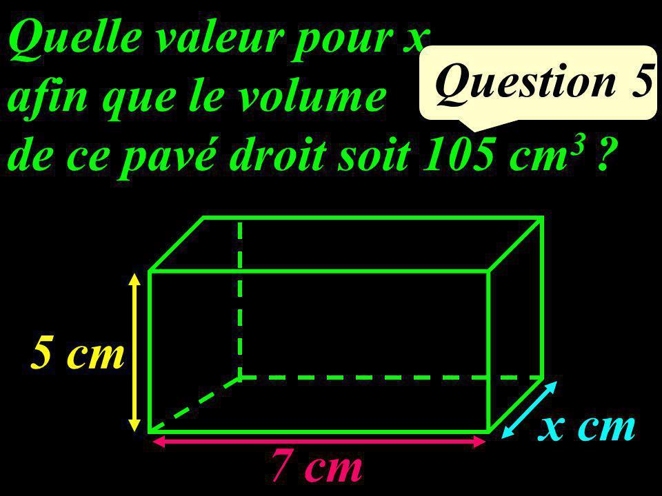 Question 4 Calculer le volume de ce cylindre. 5 cm 2 cm