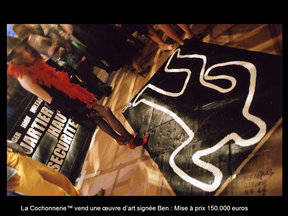 La Cochonnerie vend une œuvre dart signée Ben : Mise à prix 150.000 euros