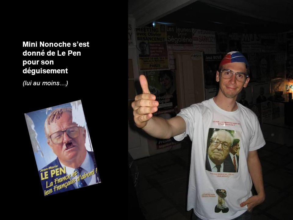 Mini Nonoche sest donné de Le Pen pour son déguisement (lui au moins…)