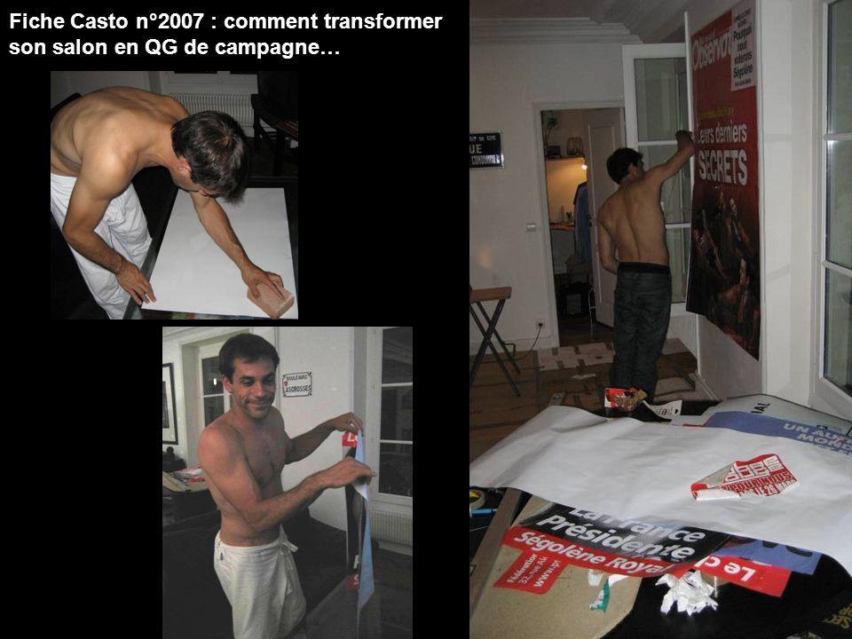 Fiche Casto n°2007 : comment transformer son salon en QG de campagne…