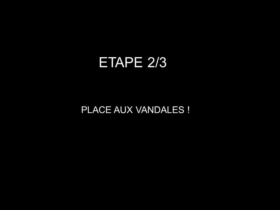 ETAPE 2/3 PLACE AUX VANDALES !
